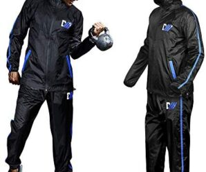 DMoose Hot Sweat Sauna Suit for Weight Loss, 2 Pc. Set, Top and Bottom Full Body Workout Wear for Women and Men, Supports Running, Cycling, Yoga, Pilates, MMA, Boxing or Fitness