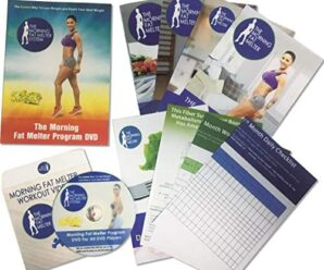 Morning Fat Melter Workout DVD for Women – Lose At Least 3 Pounds/Week With Our Weight Loss Program – 11 Workout Videos + 30 Days Meal Plan – 5 Printed Manuals & 1 Exercise DVDs