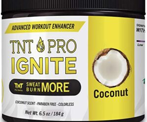 Slimming Cream for Belly with Coconut Oil – TNT Pro Ignite Sweat Cream for Men and Women – Thermogenic Weight Loss Slimming Workout Enhancer for Stomach, Abdominal Burner – 6.5 oz Jar